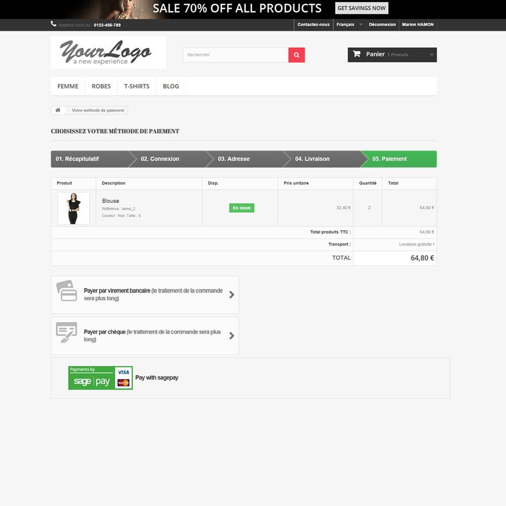 module - Paiement par Carte ou Wallet - Sage Pay Go - 3