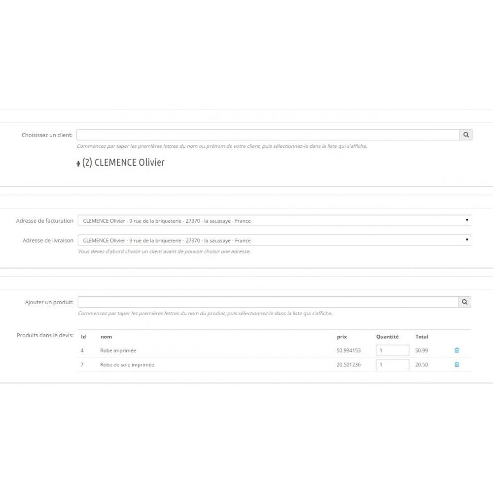 module - Devis - Création de devis front et back office - 5
