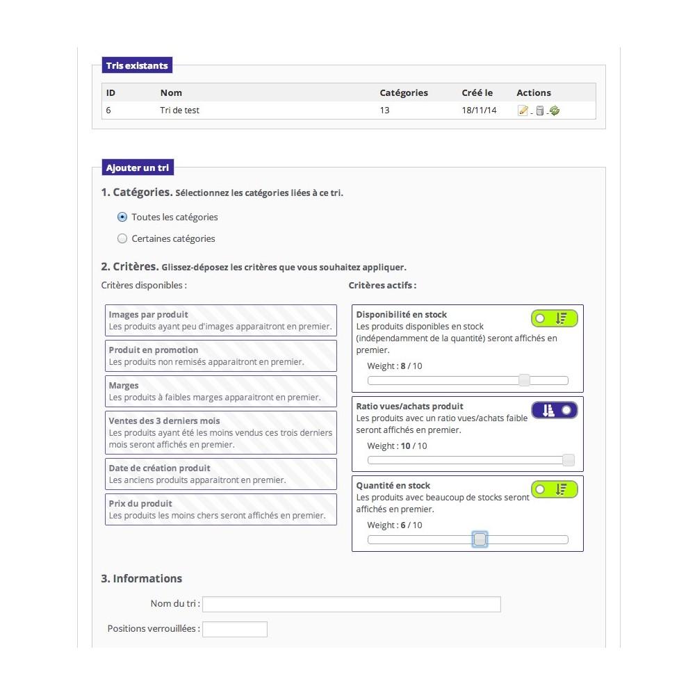 module - Outils d'administration - Positionnement automatique de vos produits - 1