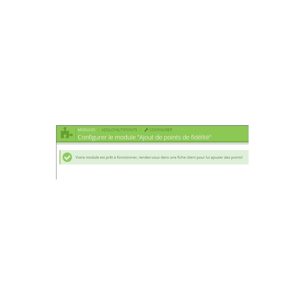 module - Fidélisation & Parrainage - Ajout manuel de points de fidélité - 3