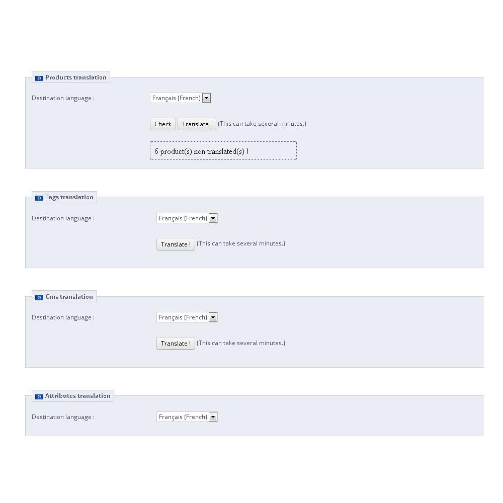 module - Międzynarodowość & Lokalizacja - Easy Presta Translator - 2