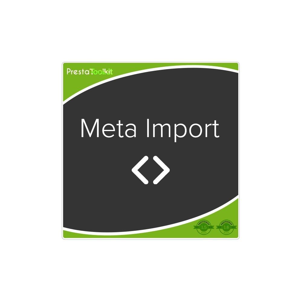 module - SEO - SEO Tags, Meta Tags Import - 1