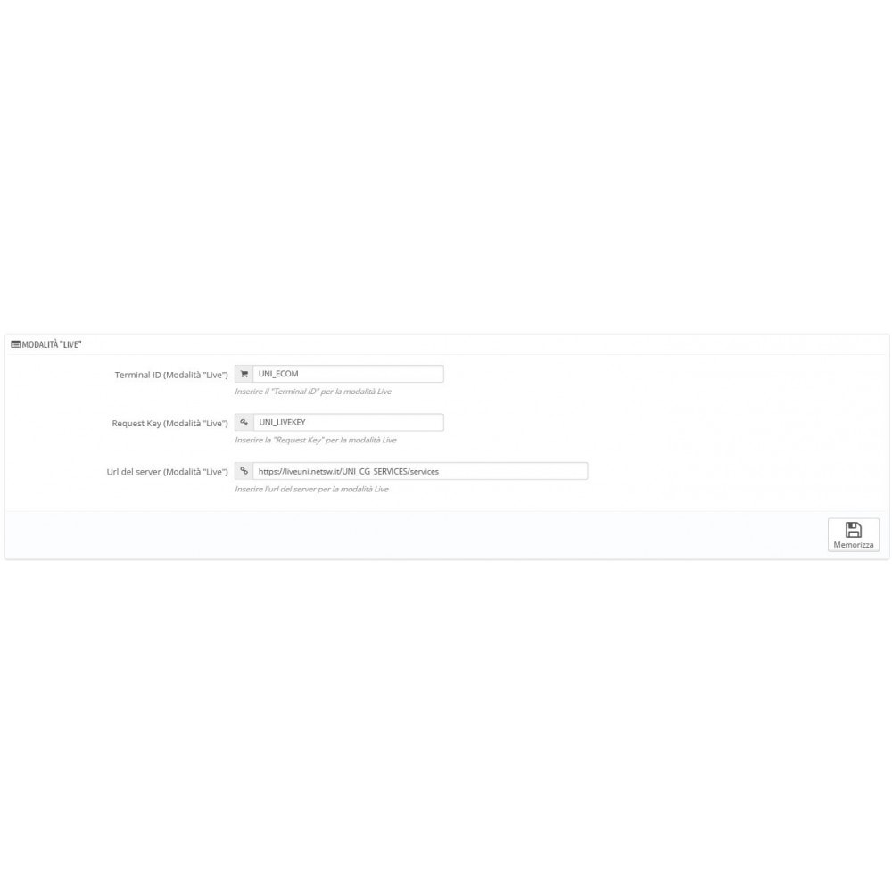 module - Zahlung per Kreditkarte oder Wallet - Unicredit PagOnline Imprese - 10