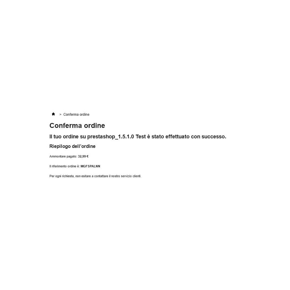 module - Оплата банковской картой или с помощью электронного кошелька - Unicredit PagOnline Imprese - 15