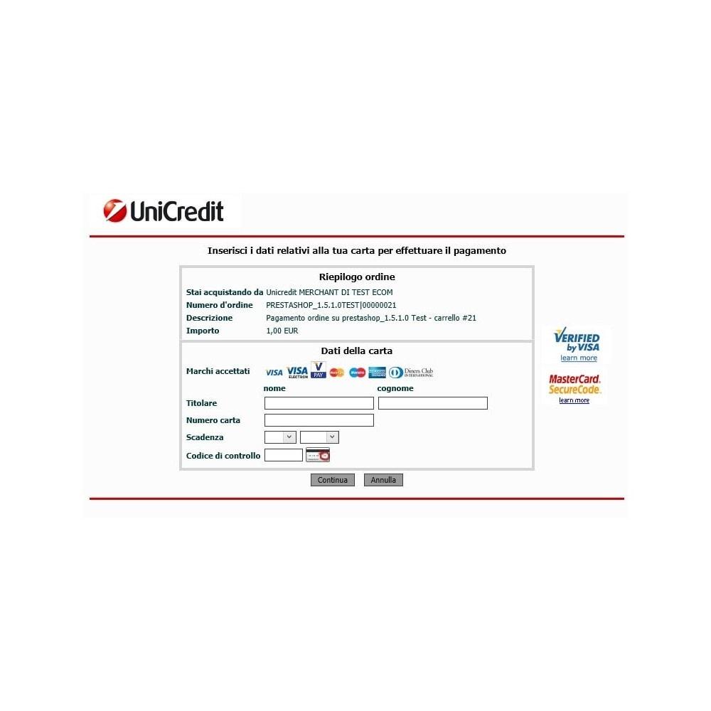 module - Оплата банковской картой или с помощью электронного кошелька - Unicredit PagOnline Imprese - 16