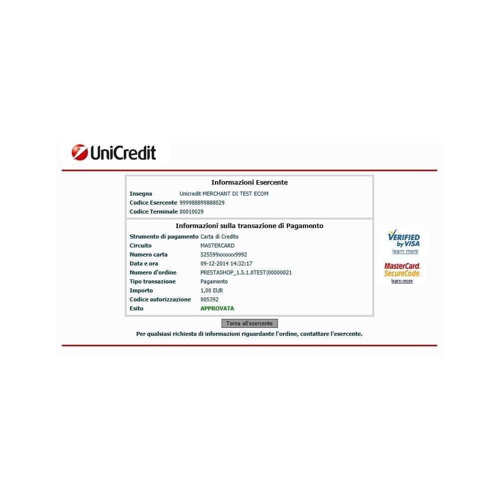 module - Оплата банковской картой или с помощью электронного кошелька - Unicredit PagOnline Imprese - 17