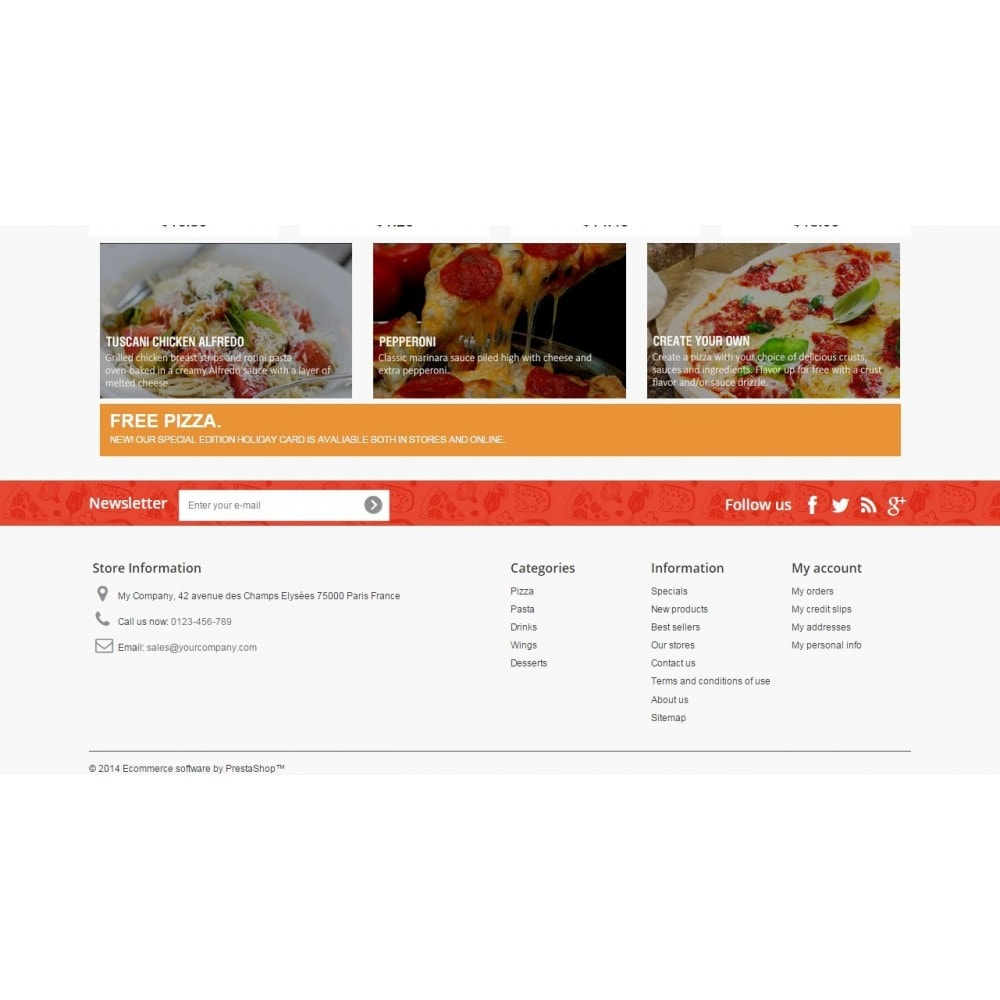 theme - Alimentos & Restaurantes - Pizza Fox Prestashop 1.6 Responsive Template - 4