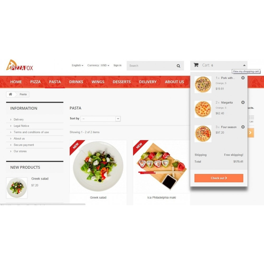theme - Alimentos & Restaurantes - Pizza Fox Prestashop 1.6 Responsive Template - 6