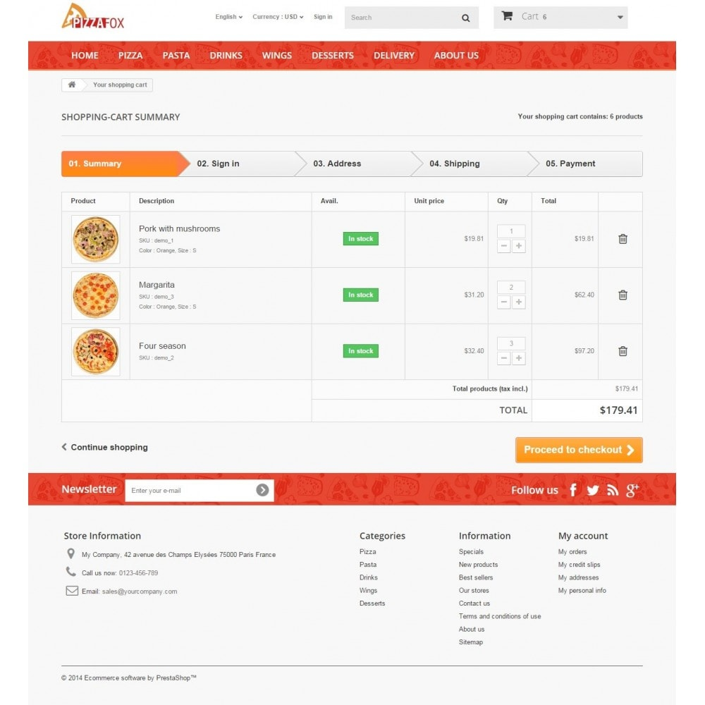 theme - Alimentos & Restaurantes - Pizza Fox Prestashop 1.6 Responsive Template - 10