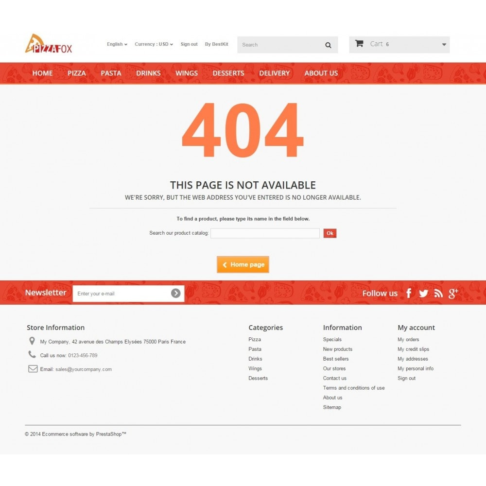 theme - Alimentos & Restaurantes - Pizza Fox Prestashop 1.6 Responsive Template - 12