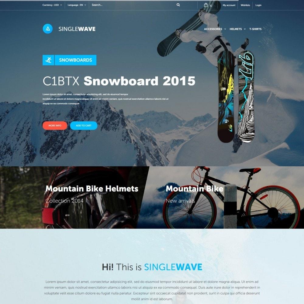 theme - Sports, Activities & Travel - Singlewave - Sport Store - 1