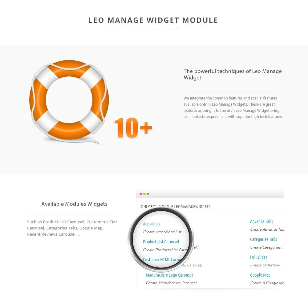 module - Page Customization - Leo Manage Widget - 3