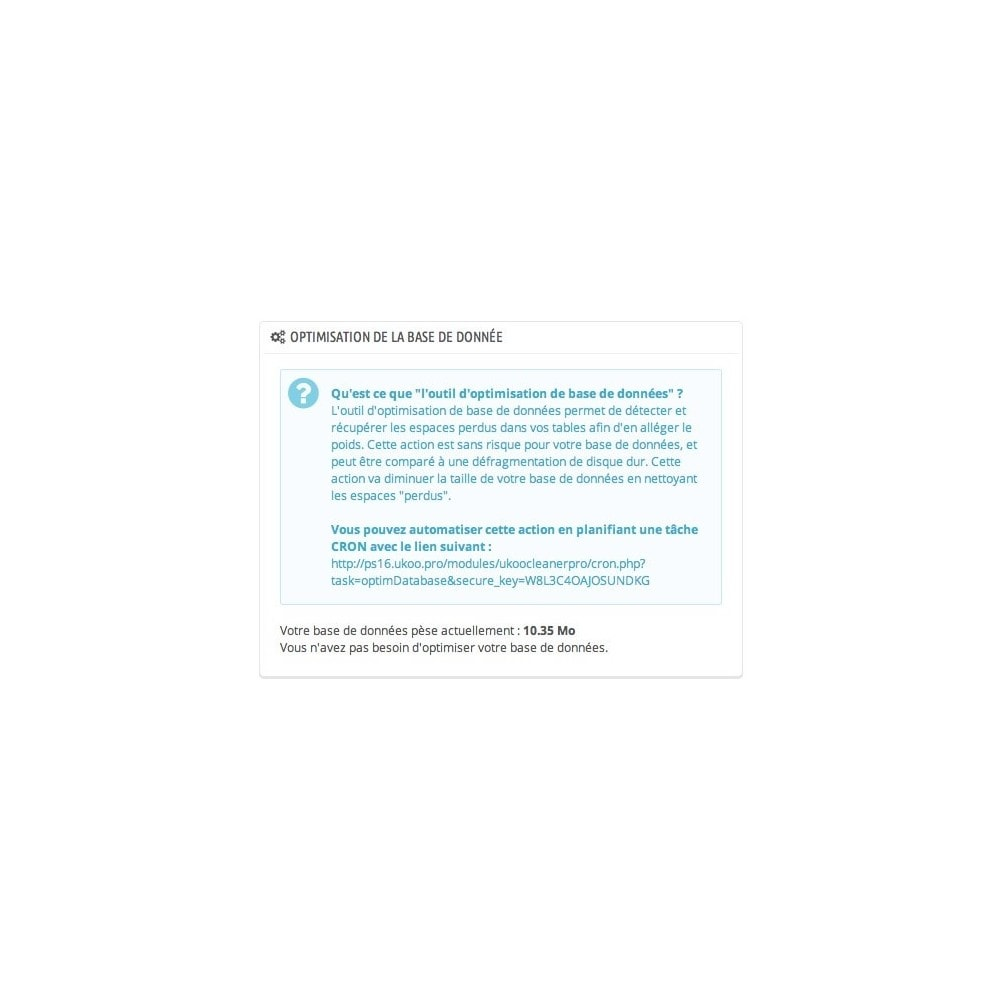 module - Performance du Site - Outils d'Optimisations Pro - 3