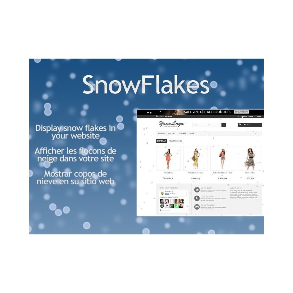 module - Page Customization - Snow Flakes - 1