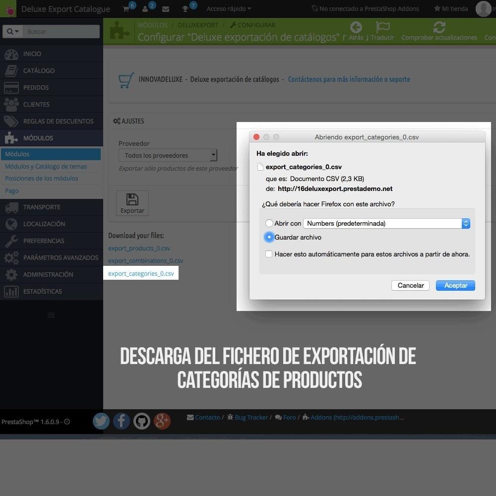 module - Importación y Exportación de datos - Exportador de productos para importador oficial - 7
