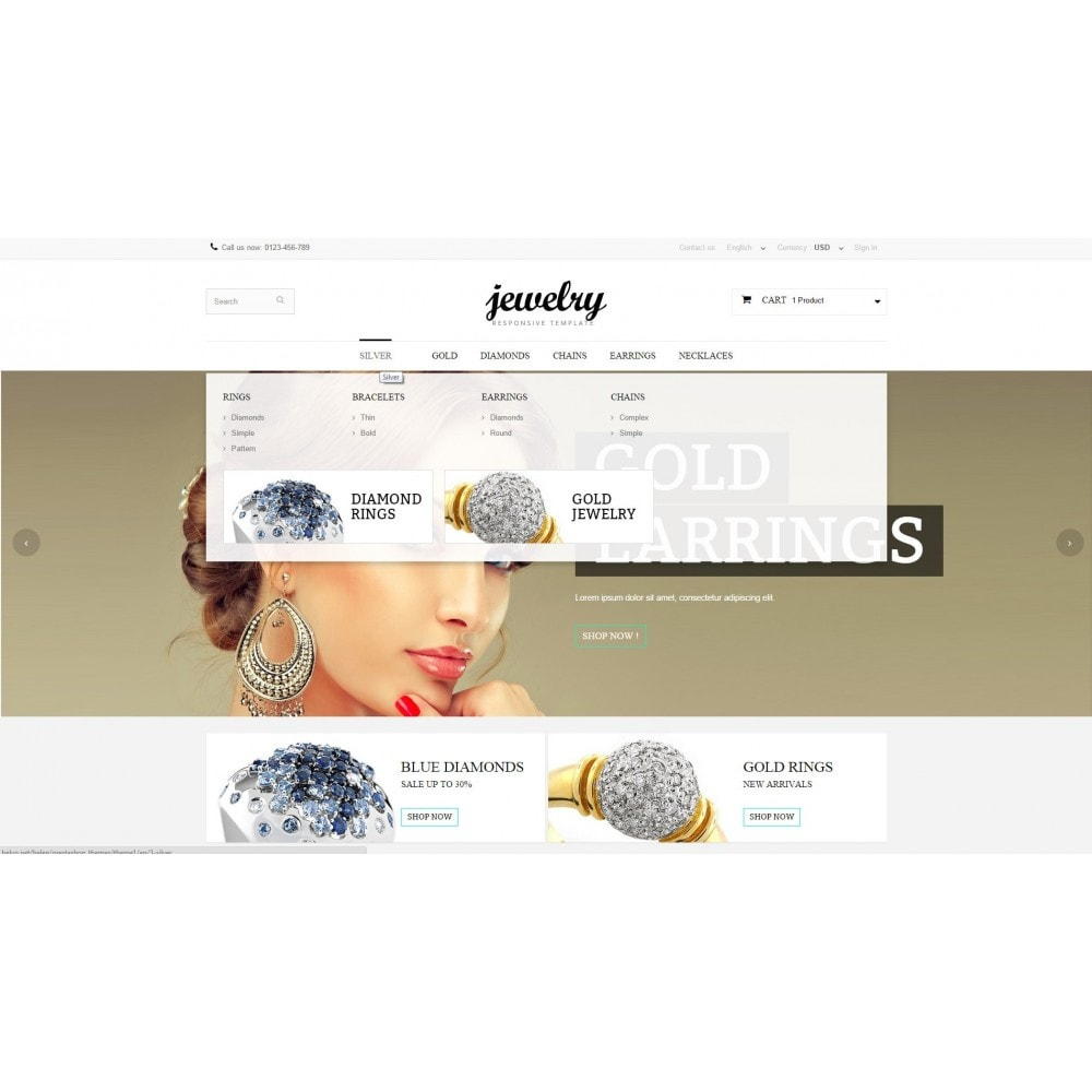 theme - Biżuteria & Akcesoria - Jewelry Prestashop 1.6 Responsive - 5