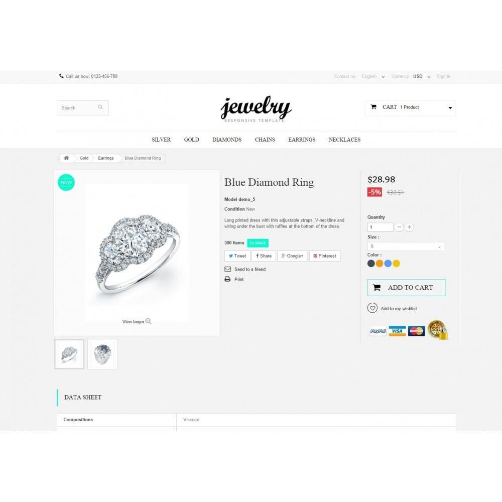 theme - Biżuteria & Akcesoria - Jewelry Prestashop 1.6 Responsive - 8