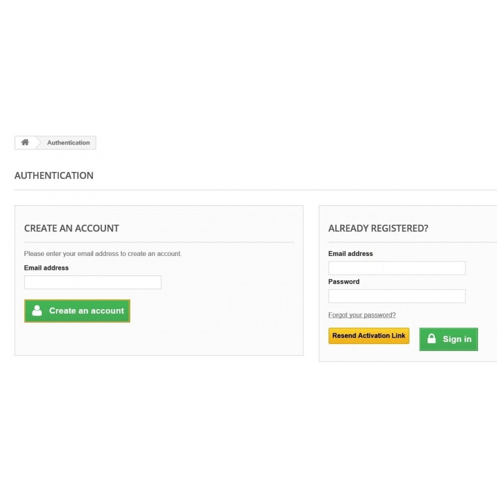 module - Inscription & Processus de commande - Customer Email Verification & Google Recaptcha AntiSpam - 2