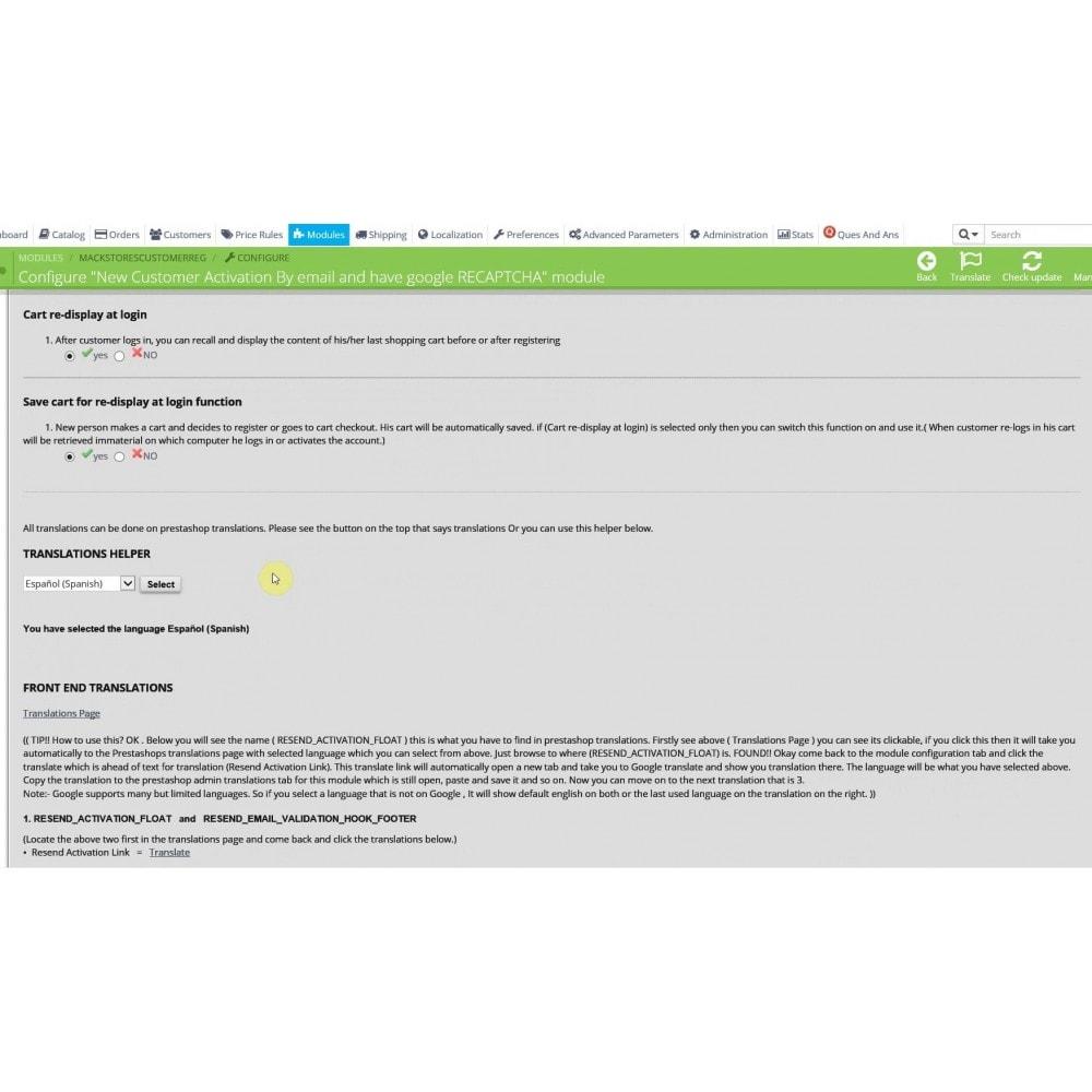 module - Inscription & Processus de commande - Customer Email Verification & Google Recaptcha AntiSpam - 14