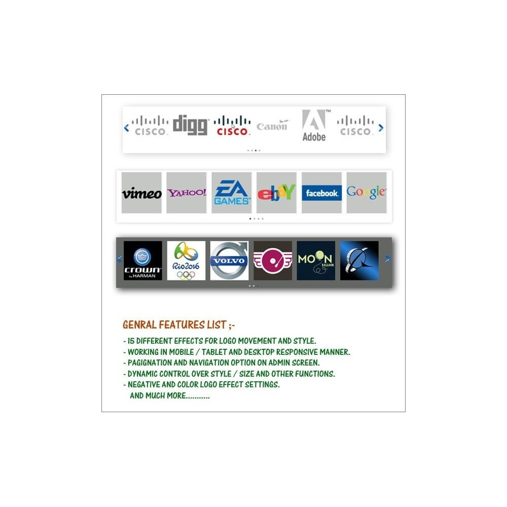 module - Navigatie middelen - Easy Responsive Logo Scroller - 1