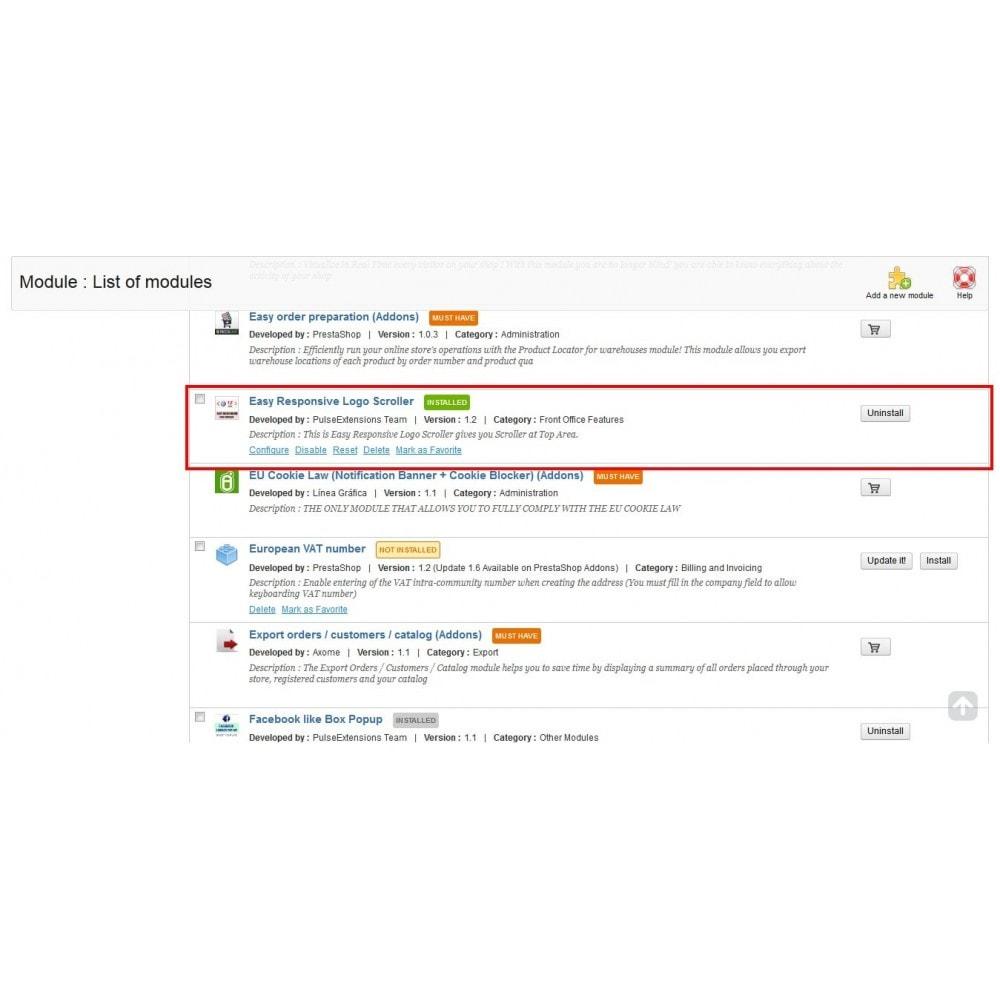 module - Navigatie middelen - Easy Responsive Logo Scroller - 2