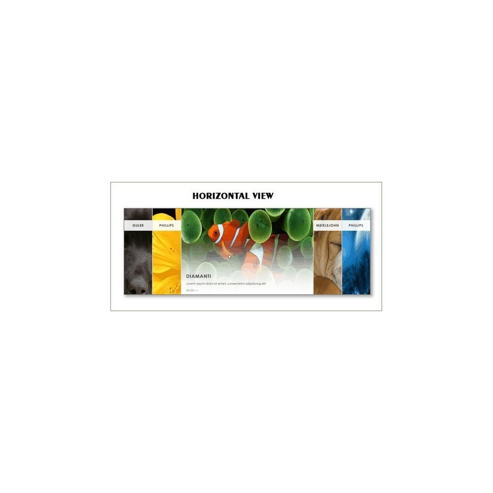 module - Sliders y Galerías de imágenes - Horizontal Sexy Imagemenu - 3