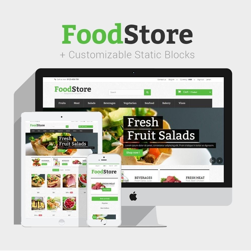 theme - Żywność & Restauracje - Food Store Prestashop 1.6 Responsive - 1