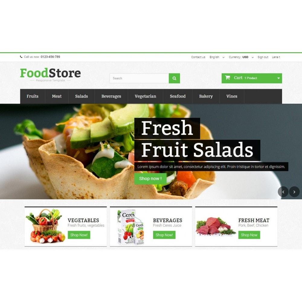 theme - Żywność & Restauracje - Food Store Prestashop 1.6 Responsive - 3