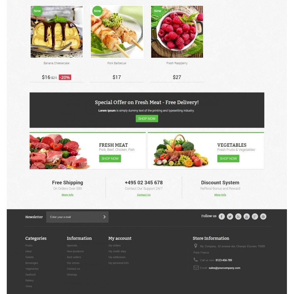 theme - Żywność & Restauracje - Food Store Prestashop 1.6 Responsive - 4