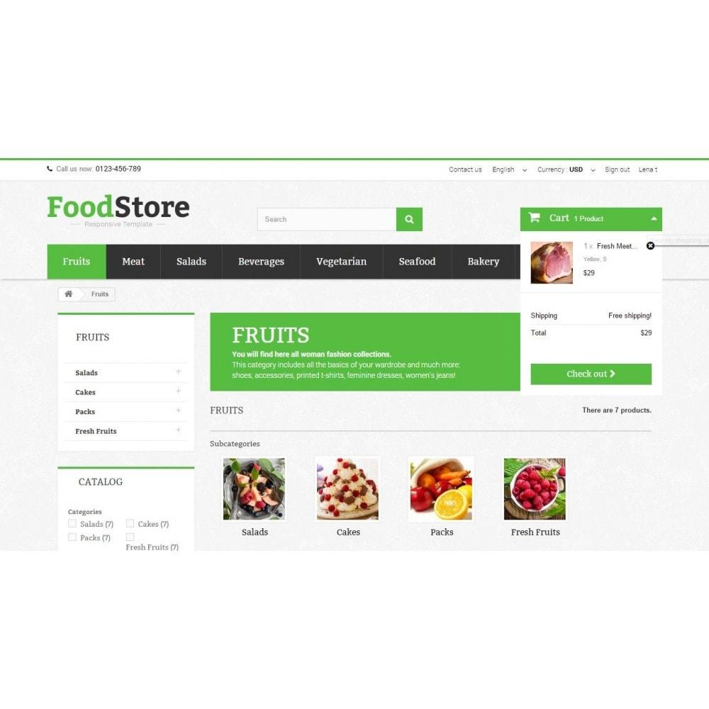 theme - Żywność & Restauracje - Food Store Prestashop 1.6 Responsive - 6