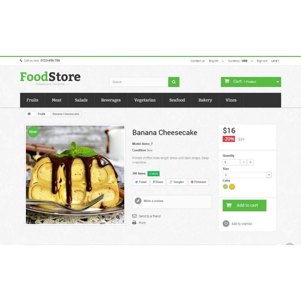 theme - Żywność & Restauracje - Food Store Prestashop 1.6 Responsive - 8