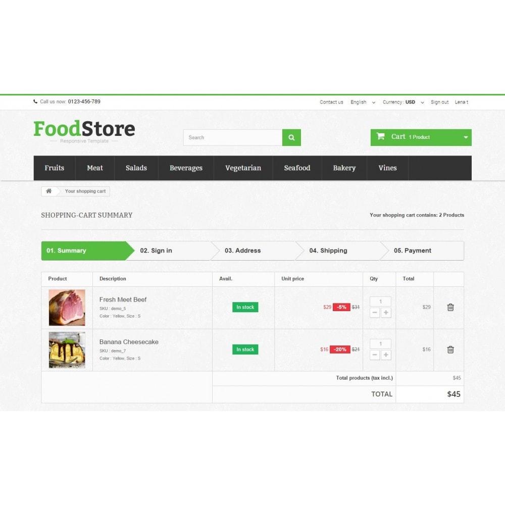 theme - Żywność & Restauracje - Food Store Prestashop 1.6 Responsive - 9