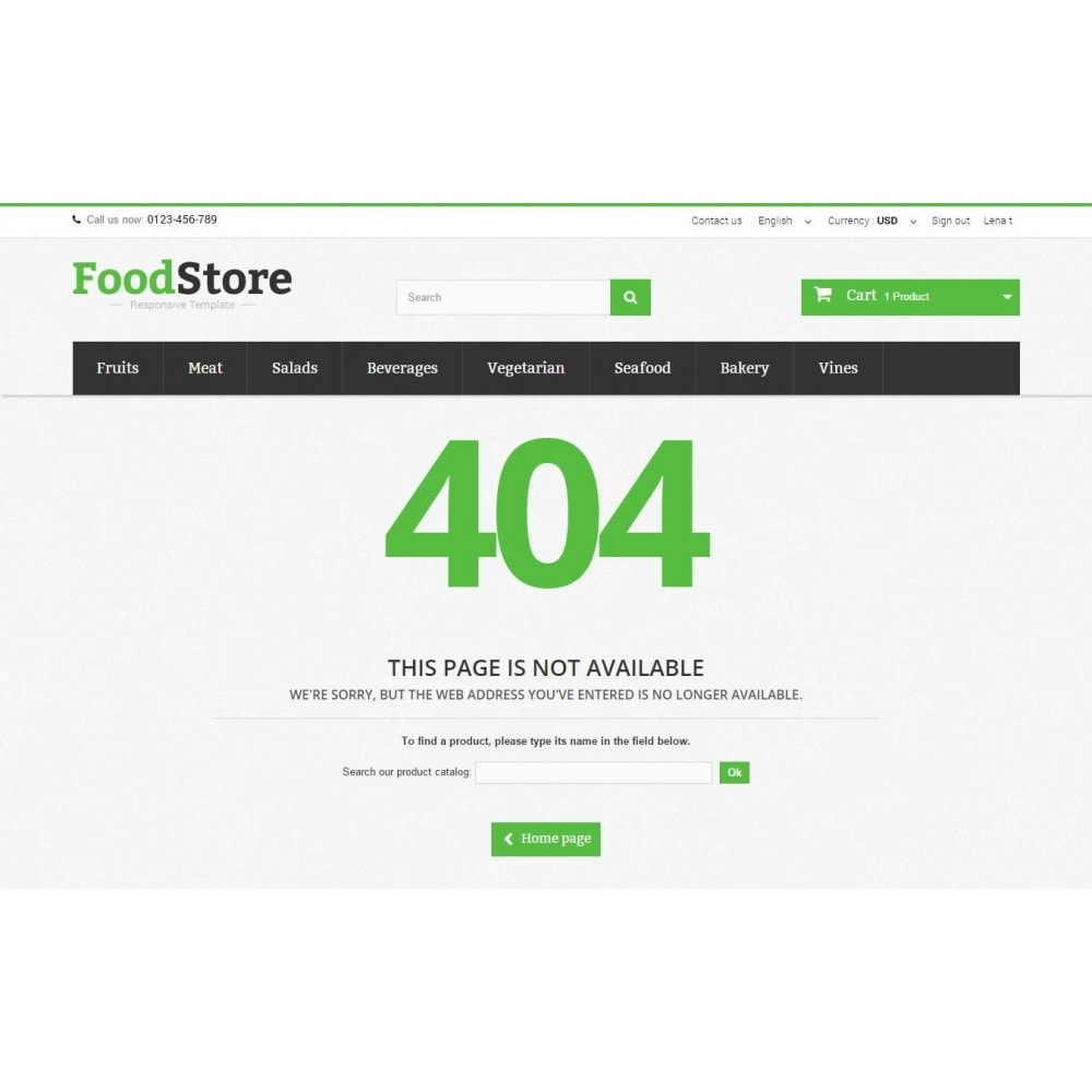 theme - Żywność & Restauracje - Food Store Prestashop 1.6 Responsive - 11