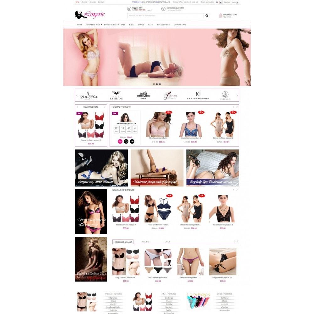 theme - Нижнее белье и товары для взрослых - Responsive Best Lingerie Prestashop Theme 1.6.x - 1