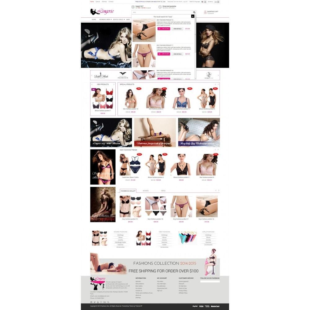 theme - Нижнее белье и товары для взрослых - Responsive Best Lingerie Prestashop Theme 1.6.x - 6