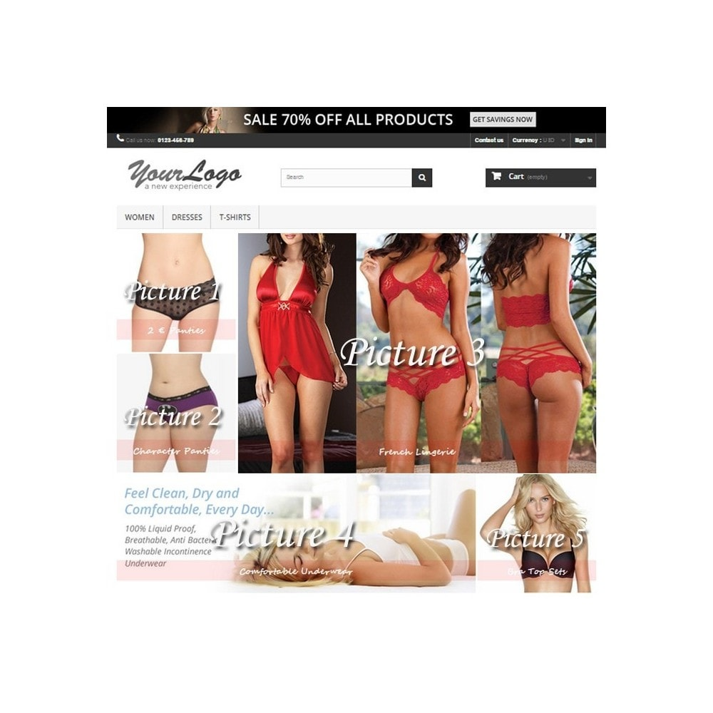 module - Page Customization - Responsive Homepage Layout 3 - Lingerie - 2