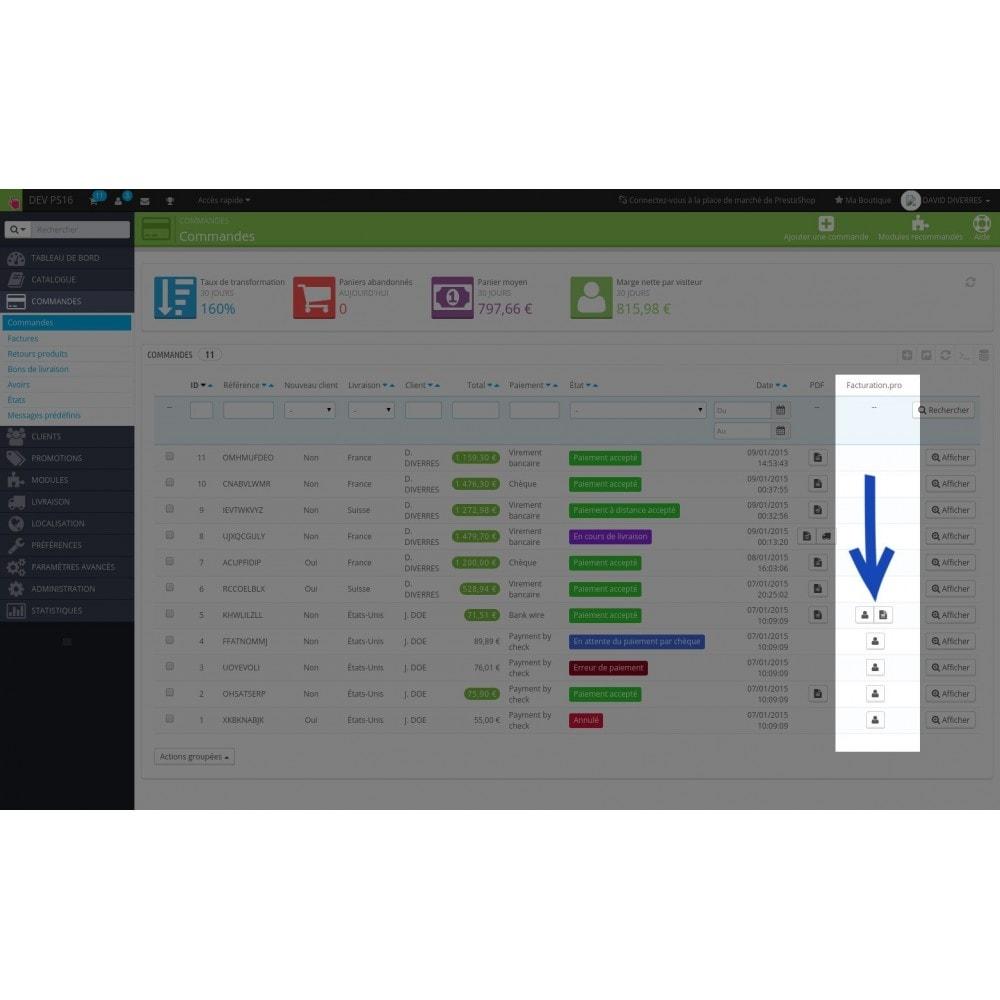 module - Connexion à un logiciel tiers (CRM, ERP...) - Facturation.pro (Mon AE, Ma TPE) Connecteur temps réel - 2