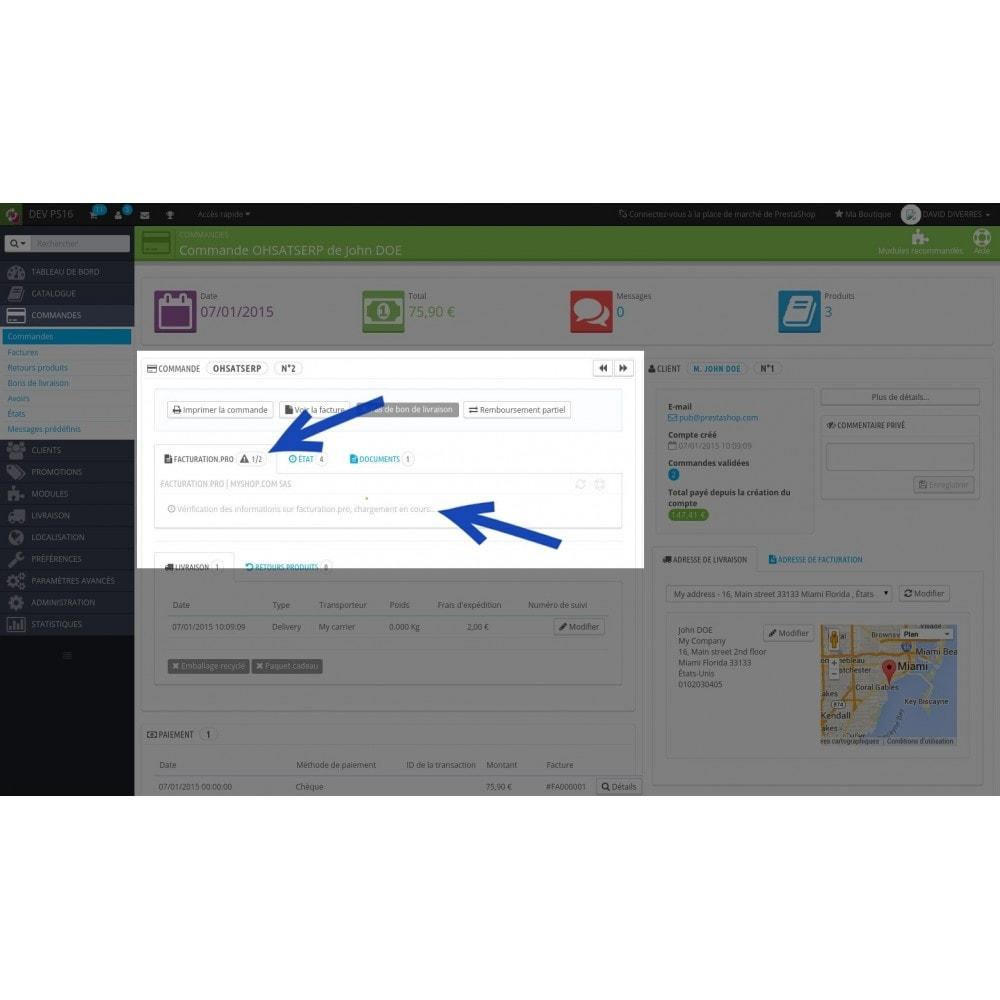 module - Connexion à un logiciel tiers (CRM, ERP...) - Facturation.pro (Mon AE, Ma TPE) Connecteur temps réel - 3
