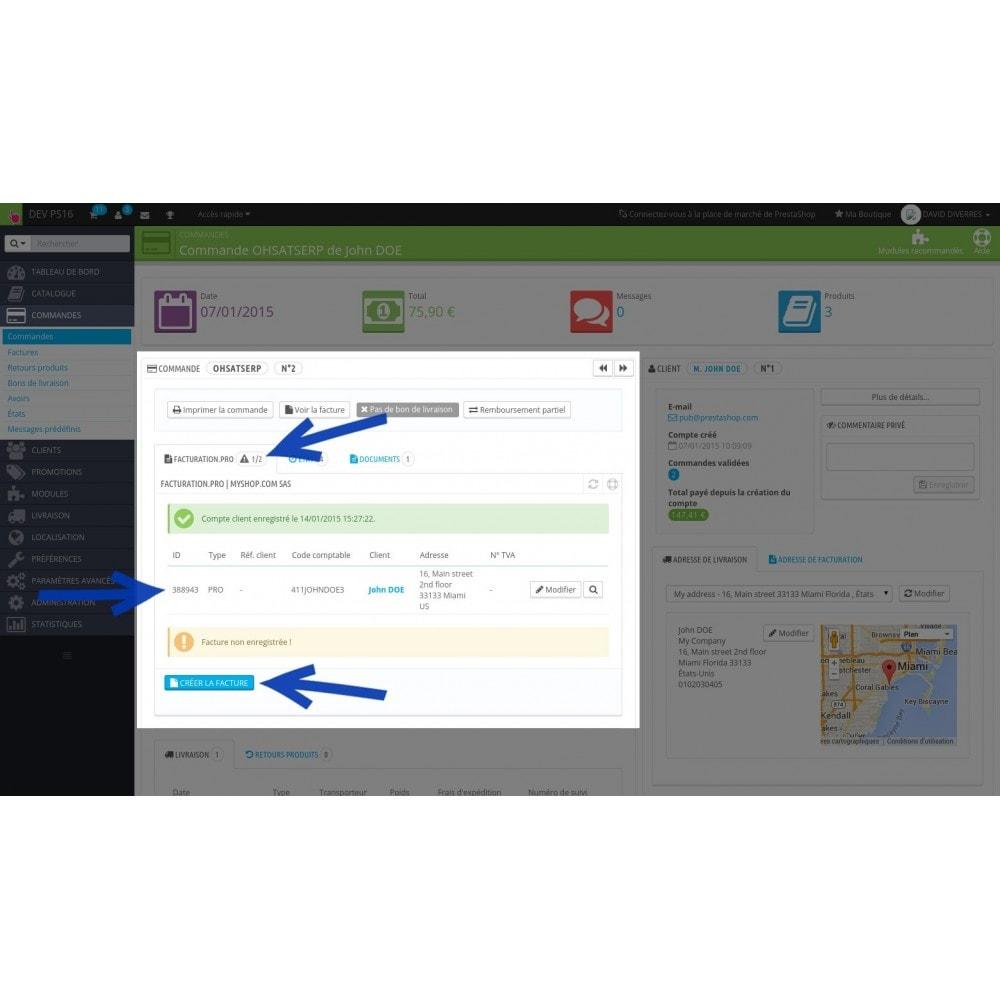 module - Connexion à un logiciel tiers (CRM, ERP...) - Facturation.pro (Mon AE, Ma TPE) Connecteur temps réel - 4
