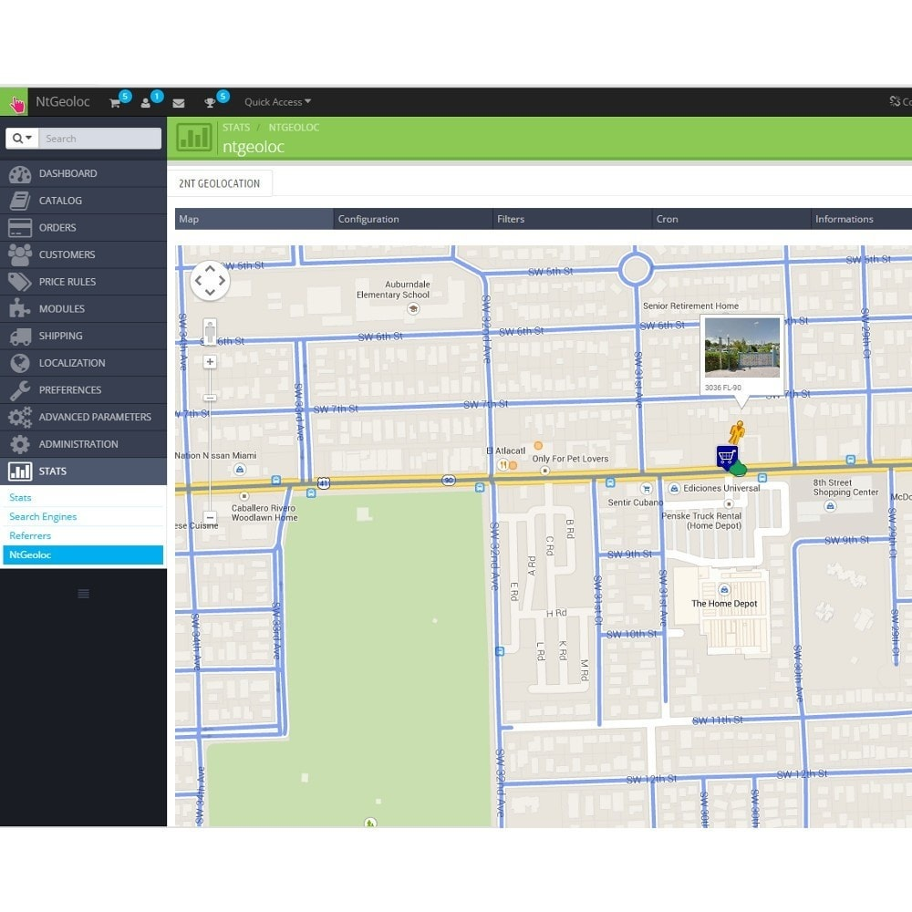 module - International & Localization - NT Geoloc, precisely locate your customers and stores - 6