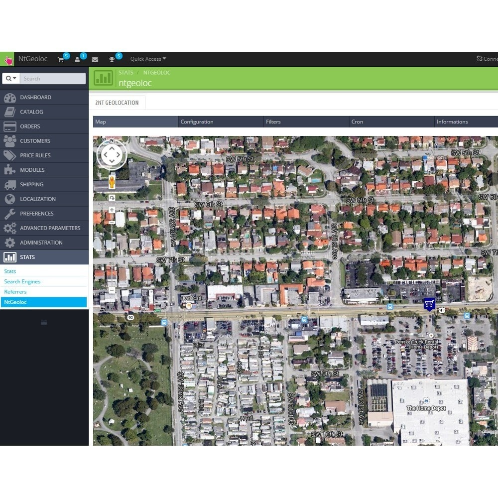 module - International & Localization - NT Geoloc, precisely locate your customers and stores - 8