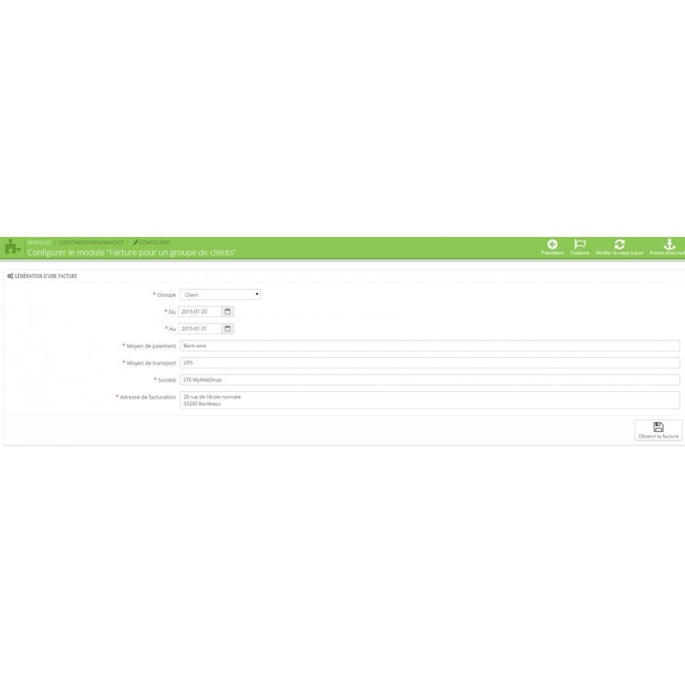 module - Comptabilité & Facturation - Facture pour un groupe de clients - 2