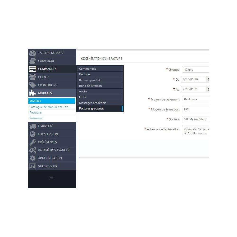 module - Comptabilité & Facturation - Facture pour un groupe de clients - 3
