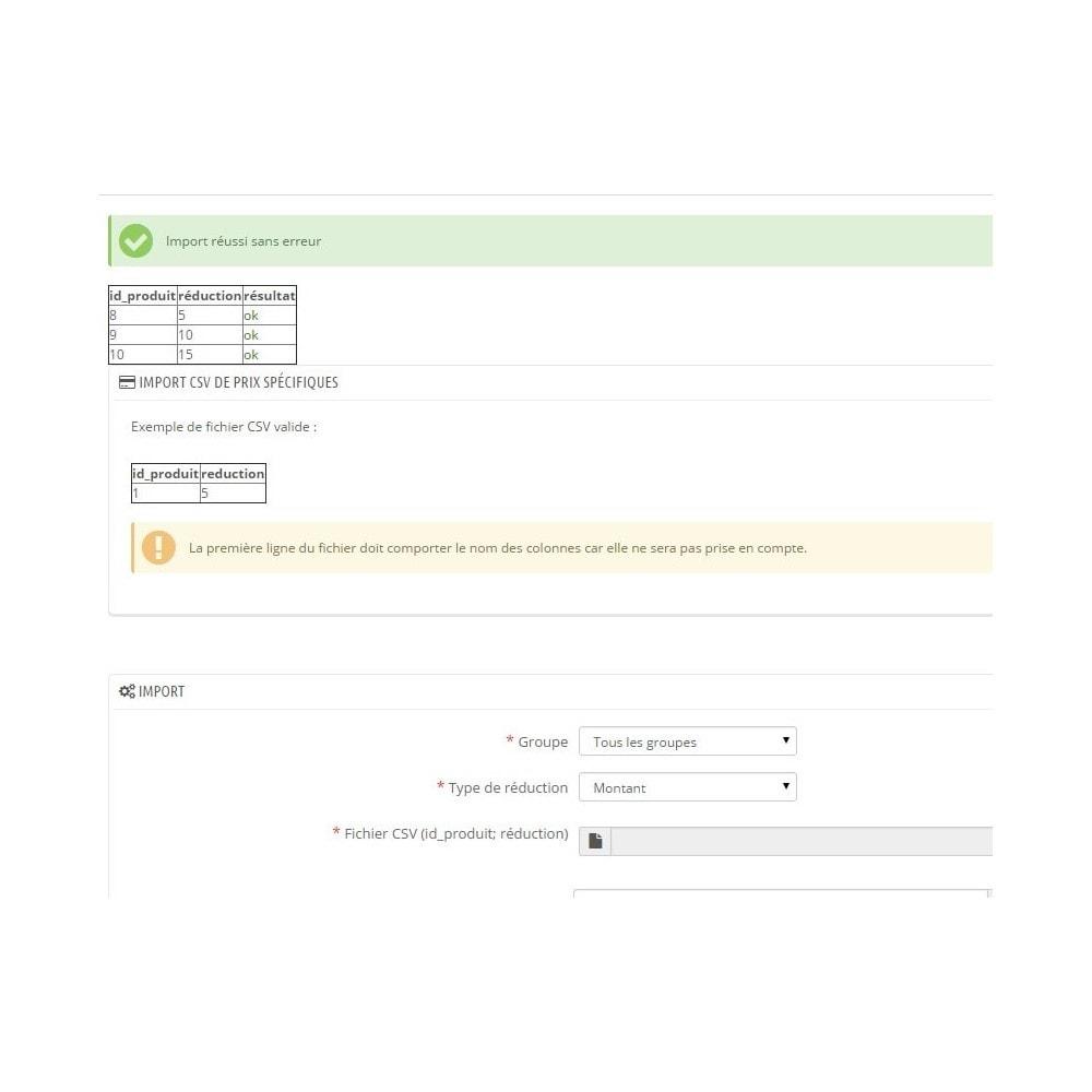 module - Gestion des Prix - Import CSV de prix spécifiques - 2