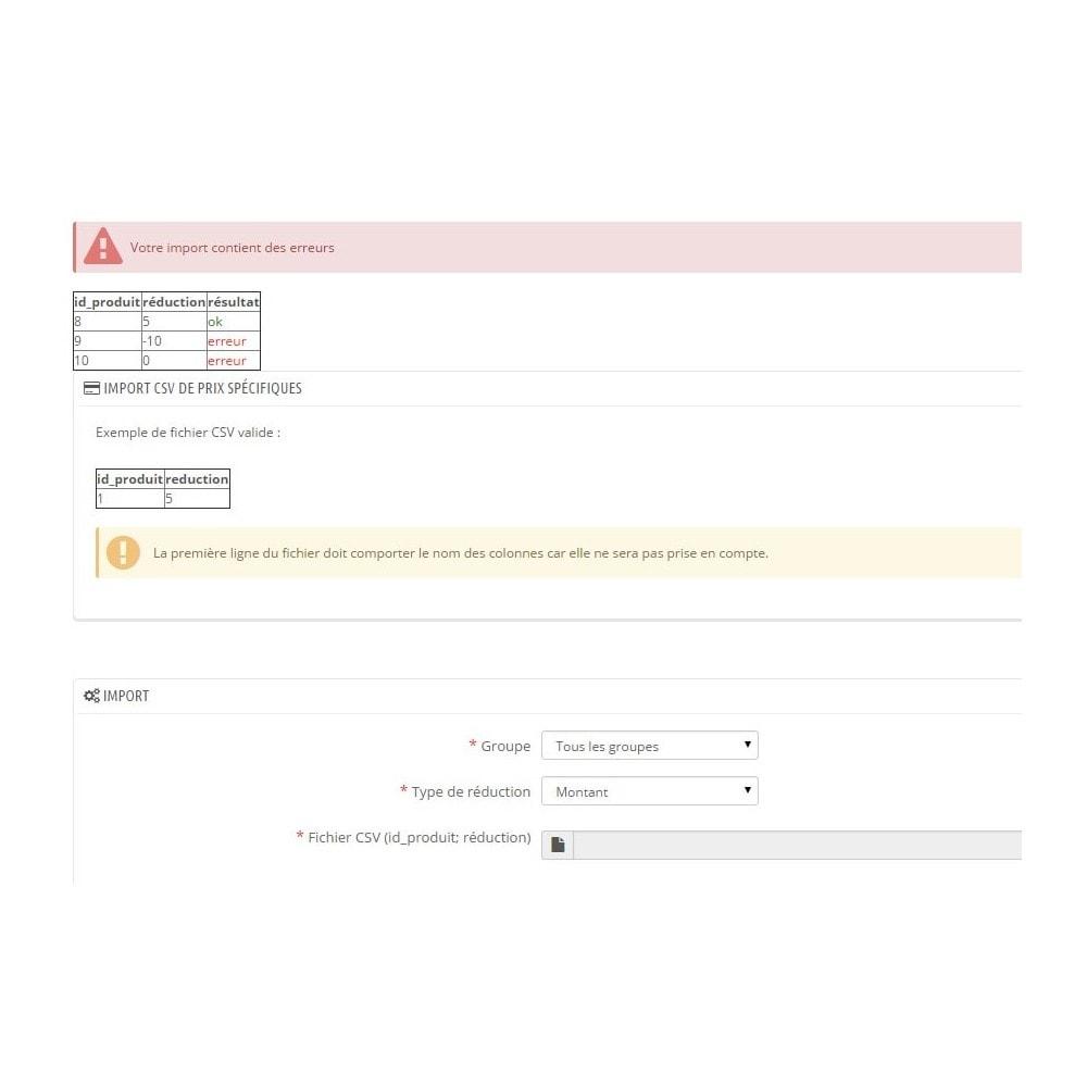 module - Gestion des Prix - Import CSV de prix spécifiques - 3