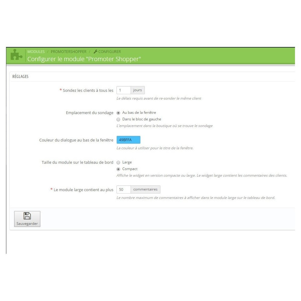 module - Formulaires de Contact & Sondages - Promoter Shopper - 6