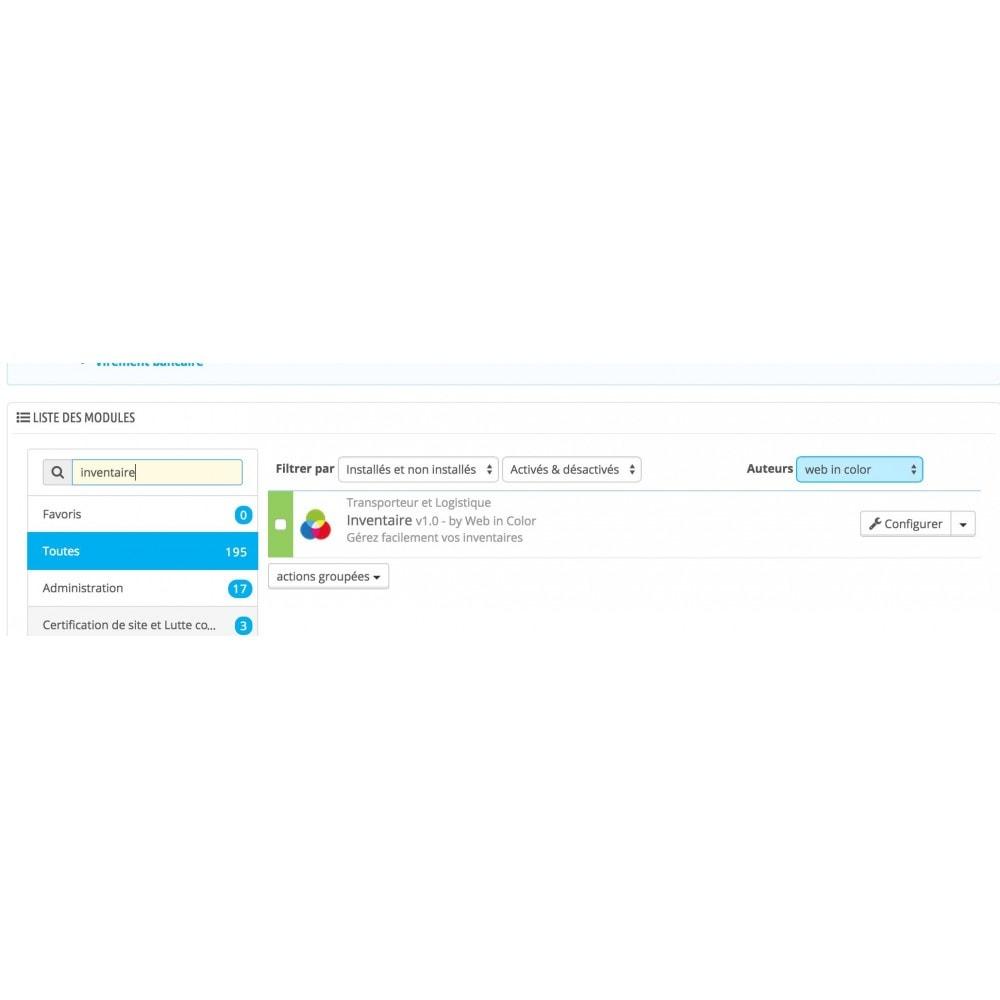 module - Gestión de Stock y de Proveedores - Inventory (scan or input fields) - 2