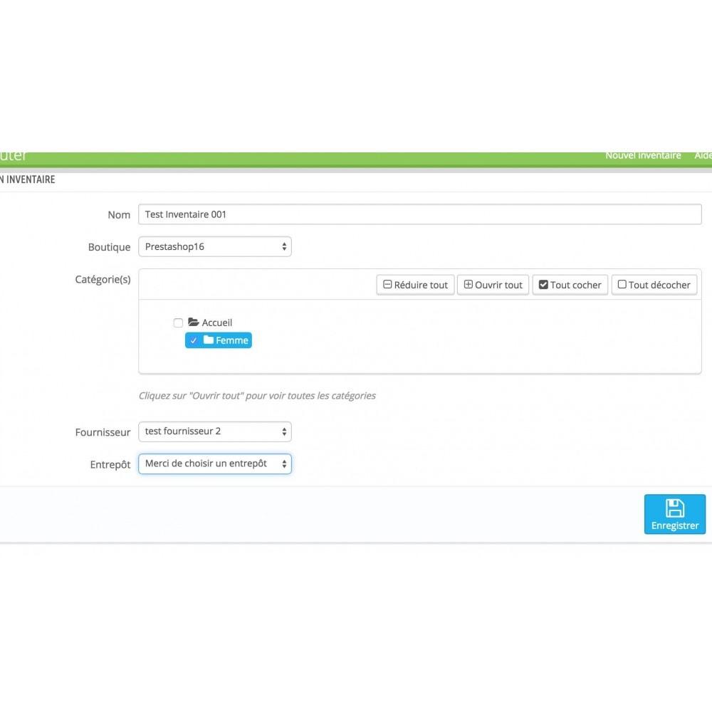 module - Zarządzanie zapasami &  Dostawcy - Inventory (scan or input fields) - 9
