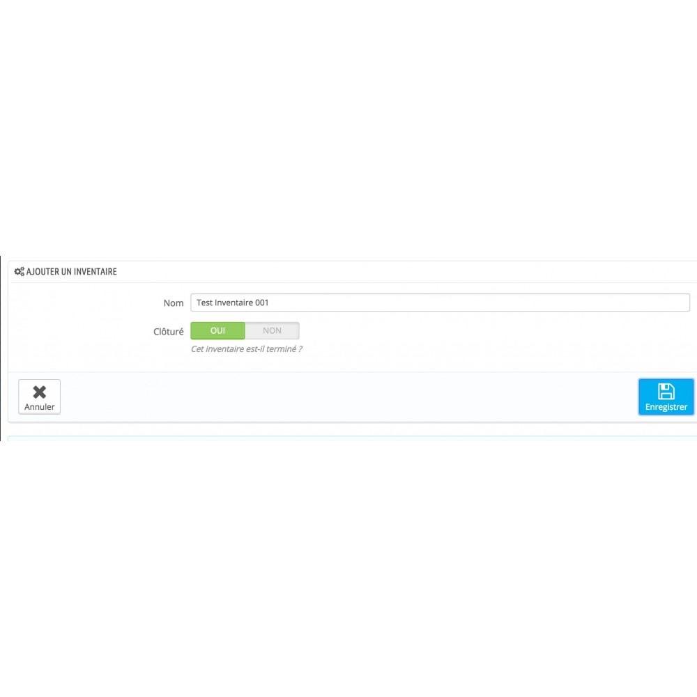 module - Gestión de Stock y de Proveedores - Inventory (scan or input fields) - 14