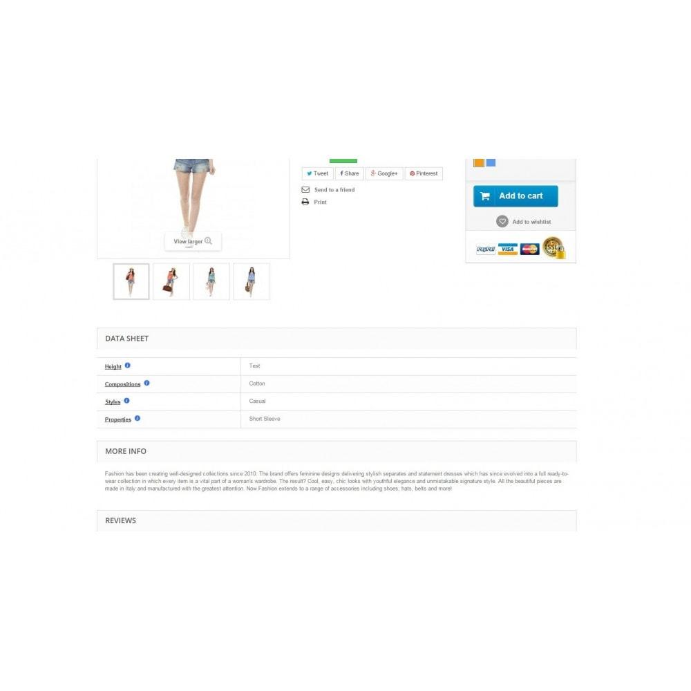 module - Altre informazioni & Product Tab - Features Hint - 2